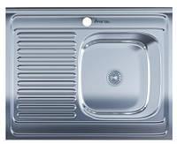 Мойка для кухни накладная прямоугольная правая 800 х 600 x 175/180 IMPERIAL 0,8 глянцевая