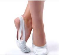 Получешки белые тканевые гимнастические
