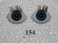Глазки рыбки 27 мм, бирюзовые. №154