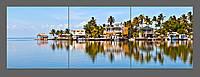 Модульная картина на стеле Морской пейзаж. Флорида. США 150*50 см