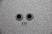 Глазки полусферы карие, 20 мм. акриловые.  TR20. № 177