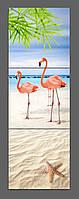 Модульная картина Розовый Фламинго 120*40 см