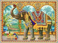 Схема для вышивки бисером Индийский слон РКП-195