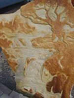 """Картина на камне """"Водопад"""""""