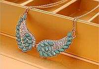 Хит продаж! Модное колье, украшенное кристаллами Крылья ангела, ожерелье воротник, колье, цепочка с кулоном