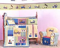 Набор для мальчиков в кроватку из 5 предметов ARYA Truck хлопок 1000107