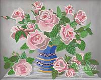Схема для вышивки бисером    Розовые розы РКП-144