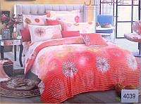 Сатиновое постельное белье евро ELWAY 4039