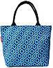 Женская сумка с принтом POOLPARTY pool7-blue-cells синяя