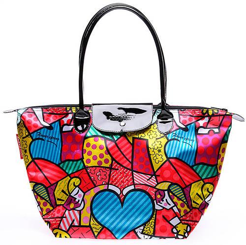 Яркая женская пляжная сумка с клапаном POOLPARTY pool80-1 красная