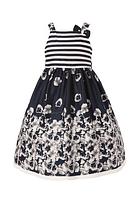 Нарядное выпускное платье с цветочным принтом 2-7 лет
