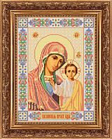 Схема для вышивки бисером икона Казанская Божья Матерь