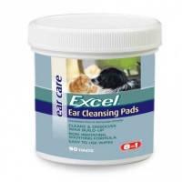 8in1 Excel Ear Cleansing Wipes салфетки гигиенические для ушей, для собак и кошек, 90шт