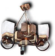 Люстра подвес древянная на 3 лампы Е14 60Вт*3