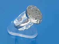 Кольцо «Николь» с устойчивым покрытием белого золотом и цирконием.