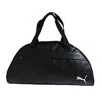 Спортивная сумка Puma, большая, черная с белым логотипом
