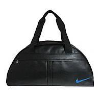 Спортивная сумка Nike, большая, черная, искусственная кожа