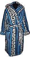Халат махровый короткий с капюшоном