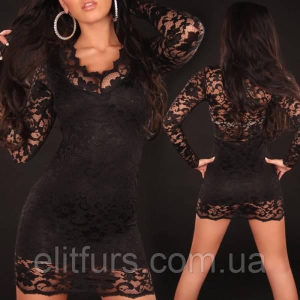 Гипюровое черное платье какие аксессуары подойдут