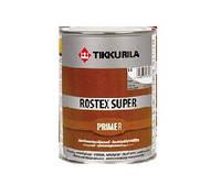 Грунт быстросохнущий TIKKURILA ROSTEX SUPER для металла и оцинковки, красно-коричневый 1л