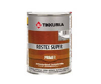 Грунт быстросохнущий TIKKURILA ROSTEX SUPER для металла и оцинковки, светло-серый, 1л