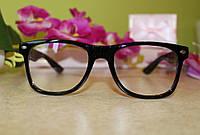 Очки Ray Ban имиджевые, прозрачное стекло, не для зрения