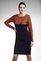 Вязаное красивое платье прямого силуэта