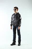 Ветровка дождевик детская камуфляж Серый от 4 до 12 лет