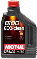 МОТОРНОЕ МАСЛО СИНТЕТИКА Motul 8100 ECO-CLEAN 5W30 (2л) Honda Toyota Subaru Renault Peugeot