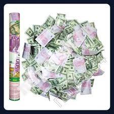 Хлопушки пневматические с сувенирными Евро 40 см Харьков