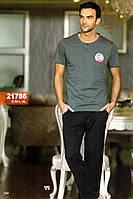 Мужская пижама, костюм для дома и отдыха футболка и брюки Sahinler 21786