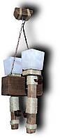 Подвес свеча из натурального дерева на 2 лампы. 07602 ФП