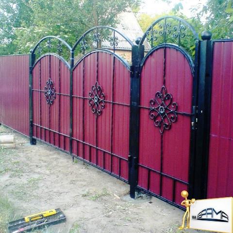 цены на ворота металлические дворовые донецк