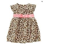 Платье на девочку, леопардовый принт