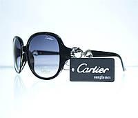 Очки женские Cartier солнцезащитные - Черные - 1312