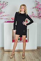 Платье с карманами черный, фото 1
