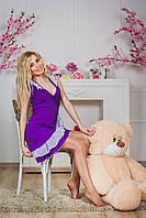 Халат с рюшами фиолетовый, фото 1