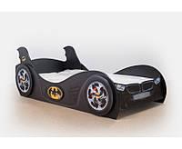 Детская кровать машинка с матрасом Бетмен Украина