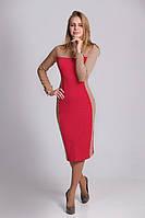 Элегантное платье из плотного жаккардового трикотажа с рисунком, фото 1