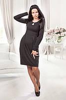 Эффектное платье из поливискозы полуприталеного силуэта, фото 1