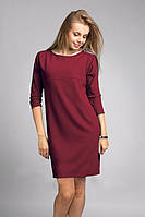 Топ-модное платье из креповой ткани прямого силуэта
