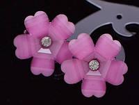 Серьги пусеты сладкий цветок лепесток форма сердца