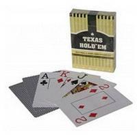 Карты игральные для покера Texas Hold`em (черная рубашка) DL-1