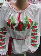 Купить женскую блузу с длинными рукавами Калинка