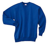 Свитшот реглан Hanes USA на флисе ярко-синий S-L