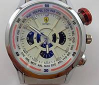 Мужские наручные часы Ferrari 012626 серебристые с белым циферблатом