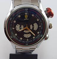 Мужские наручные часы Ferrari 012627 серебристые с черным циферблатом