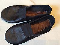 Чешки из кожи больших размеров черные р.38 - 45