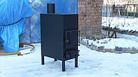 Печь длительного горения из металла 3 - 4 мм для отопления помещений до 40 м2 и приготовления/разогрева еды