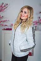 Женская спортивная курточка белая, фото 1